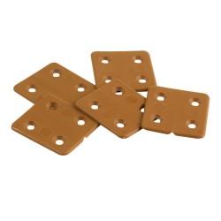 Plasthængsel brunt 43 x 40 mm (4 stk)