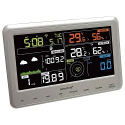 Rosenborg 69800 Wi-Fi vejrstation med regnmåler, termo- og hygrometer