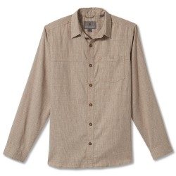 Royal Robbins Mens Hemp Blend L/S, L, DESERT