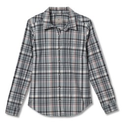 Royal Robbins Womens Thermotech Flannel, M, LIGHT PEWTER