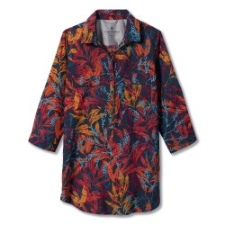 Royal Robbins Ws Expedition Tunic Print, S, NAVY