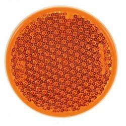 Rund refleks ø 54 mm gul selvklæbende