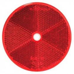 Rund refleks ø 60 mm, hul ø 5mm Rød