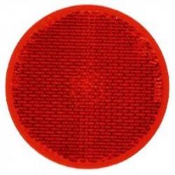 Rund refleks ø 60 mm selvklæbende Rød