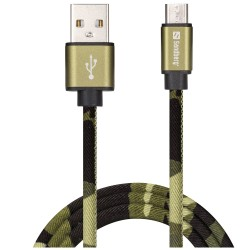 Sandberg Micro USB Sync/Charge Cable 1m, GREEN CAMOUFLAGE