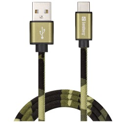 Sandberg USB-C Sync And Charge Cable 1m, GREEN CAMOUFLAGE