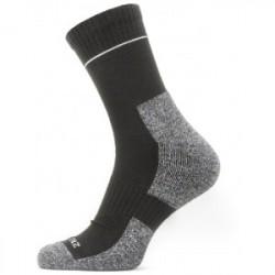 Sealskinz Solo Quickdry Ankle Length Sock - Black/Grey - Str. XL - Strømper