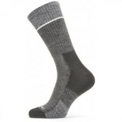 Sealskinz Solo Quickdry Mid Length Sock - Black/Grey - Str. L - Strømper