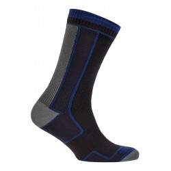 Sealskinz Thin Mid-Length Sock, Sort Grå