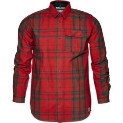 Seeland Conroy Skjorte Russet Brown Check 3XL