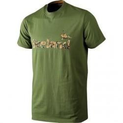 Seeland T-Shirt Camo Seeland, Bottle Green Melange