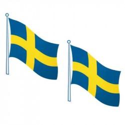 Selvklæbende flag Sverige