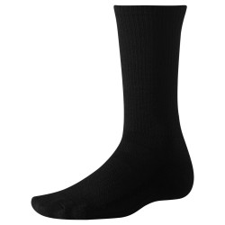 Smartwool Hike Liner Crew, L, NATURAL BLACK