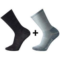 Smartwool Hike System 2-pack, S, GREY / BLACK