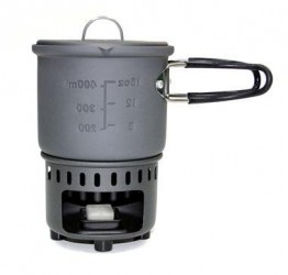 Solid fuel cookset, 585ml, without non-stick coating