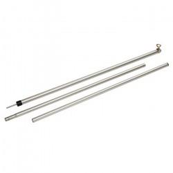 Teltstang 3 delt justerbar 80-220 cm, fremstillet i aluminium