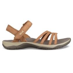 Teva Womens Elzada Sandal Leather, US 8, PECAN