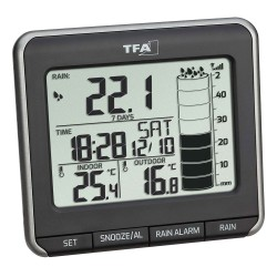 TFA Rainman trådløs regnmåler med termometer