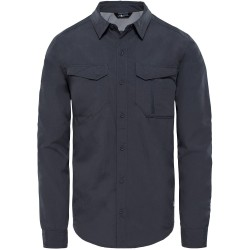 The North Face Mens L/S Sequoia Shirt, S, ASPHALT GREY/MID GREY