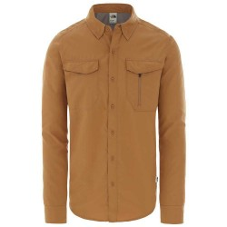 The North Face Mens L/S Sequoia Shirt, S, CEDAR BROWN