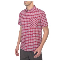 The North Face Mens S/S Hypress Shirt, S, TNF RED PLAID
