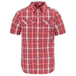 The North Face Mens S/S Pine Knot Shirt, XL, ASPHALT GREY PLAID