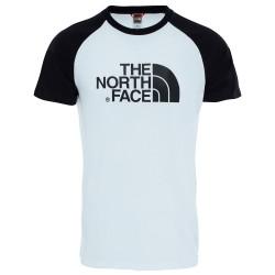 The North Face Mens S/S Raglan Easy Tee, XL, TNF WHITE/TNF BLACK