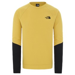 The North Face Mens Tekno Ridge Crew, XL, BAMBOO YELLOW/TNF BLACK