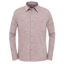 The North Face Ms L/S Montgomery Shirt, S, SEQUOIA RED