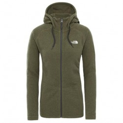The North Face Womens Mezzaluna FZ Hoodie, Burnt Olive