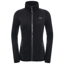 The North Face Ws 100 Glacier Full Zip, L, TNF BLACK
