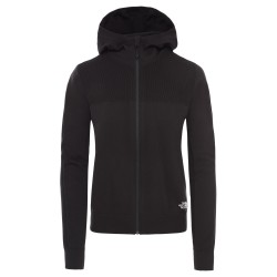 The North Face Ws E-knit Full Zip Hoodie, S, TNF BLACK