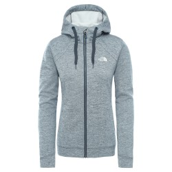 The North Face Ws Kutum Full Zip Hoodie, S, BLUE WING TEAL HEATHER