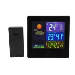 Trådløst termometer/hygrometer med radiostyret ur