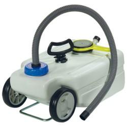 Transportabel vandtank 25 liter, inkl. koblingssæt