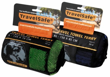 Travelsafe TravelTowel Terry L 70x135 Lime Green