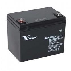 Vision 6FM75 12 volt AGM akkumulator