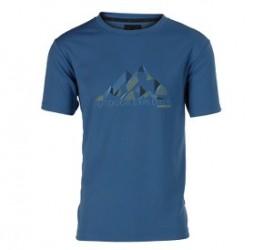 Wolf Camper Mountain T-Shirt Blue