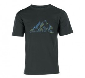 Wolf Camper Mountain T-Shirt Olive