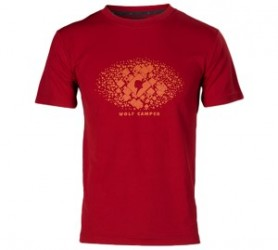 Wolf Camper Square T-Shirt Red