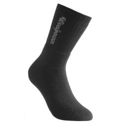 Woolpower 2-pack Logo Sock, 45-48, BLACK