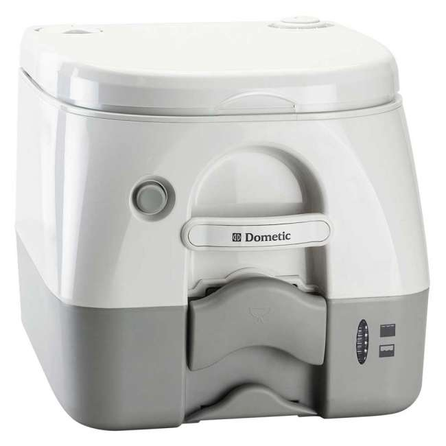 Priser på Dometic 972 transportabelt toilet Gråt / hvidt