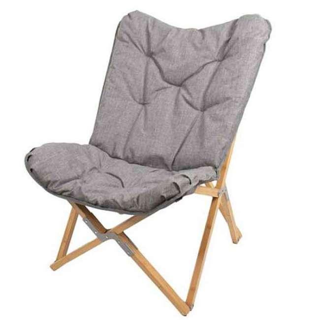 Priser på Foldbar Lounge stol med polstret hynde