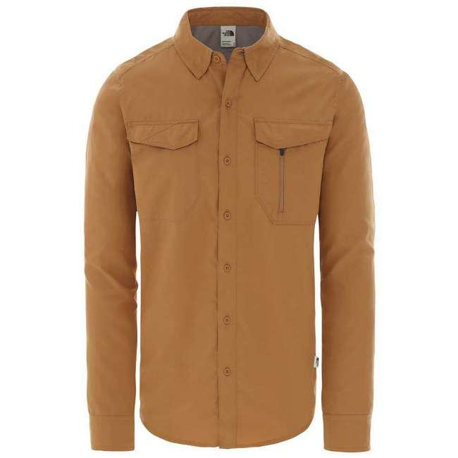 Priser på The North Face Mens L/S Sequoia Shirt, S, CEDAR BROWN